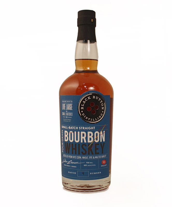 Black Button Distilling, Four Grain Bourbon, Finger Lakes, 750ml
