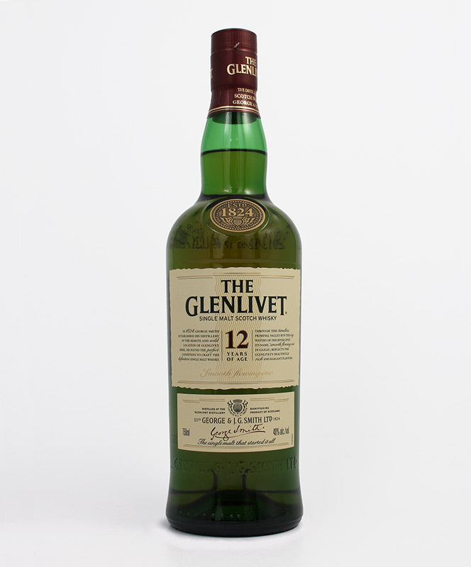 The Glenlivet, 12 Year Old Single Malt, Highland, 750ml