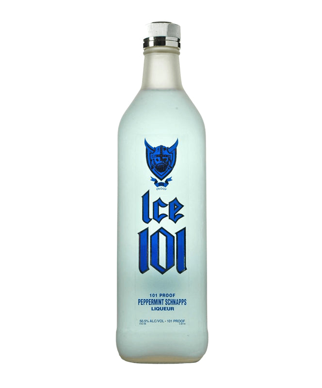 ICE 101 PEPPERMINT SCHNAPPS 750ML