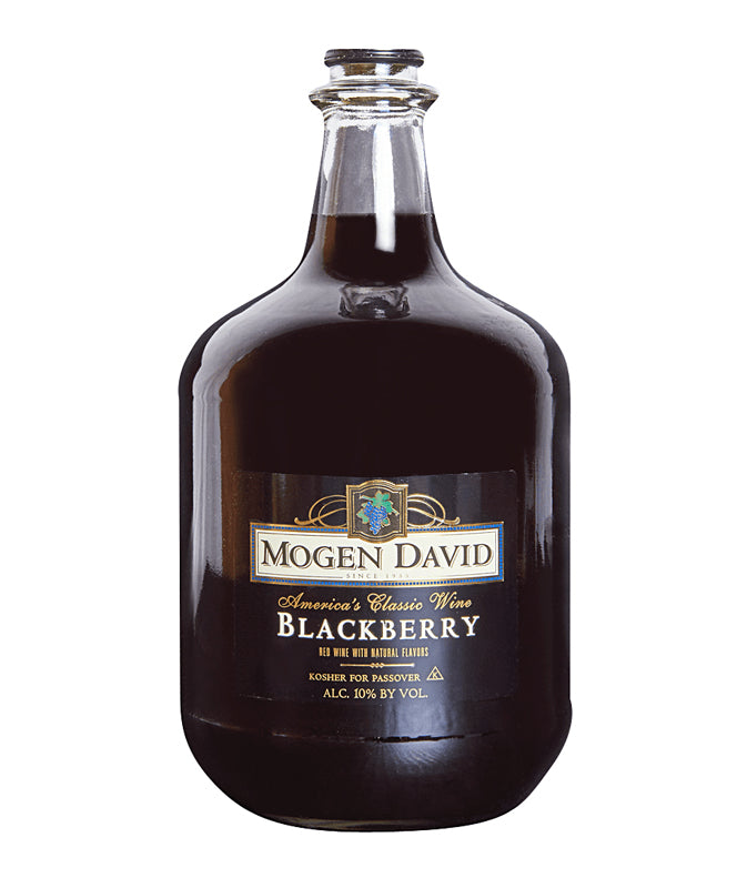 Mogen David, Blackberry, Kosher, Canandaigua, 3L