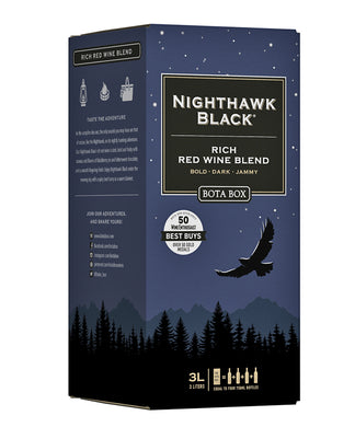BOTA BOX NIGHTHAWK BLACK DARK RED BLEND 3L