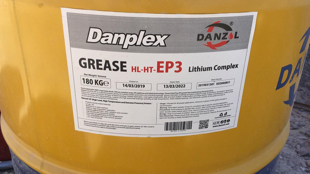 Danzol EP2 Grease 180kg - ElBaz E-Shop