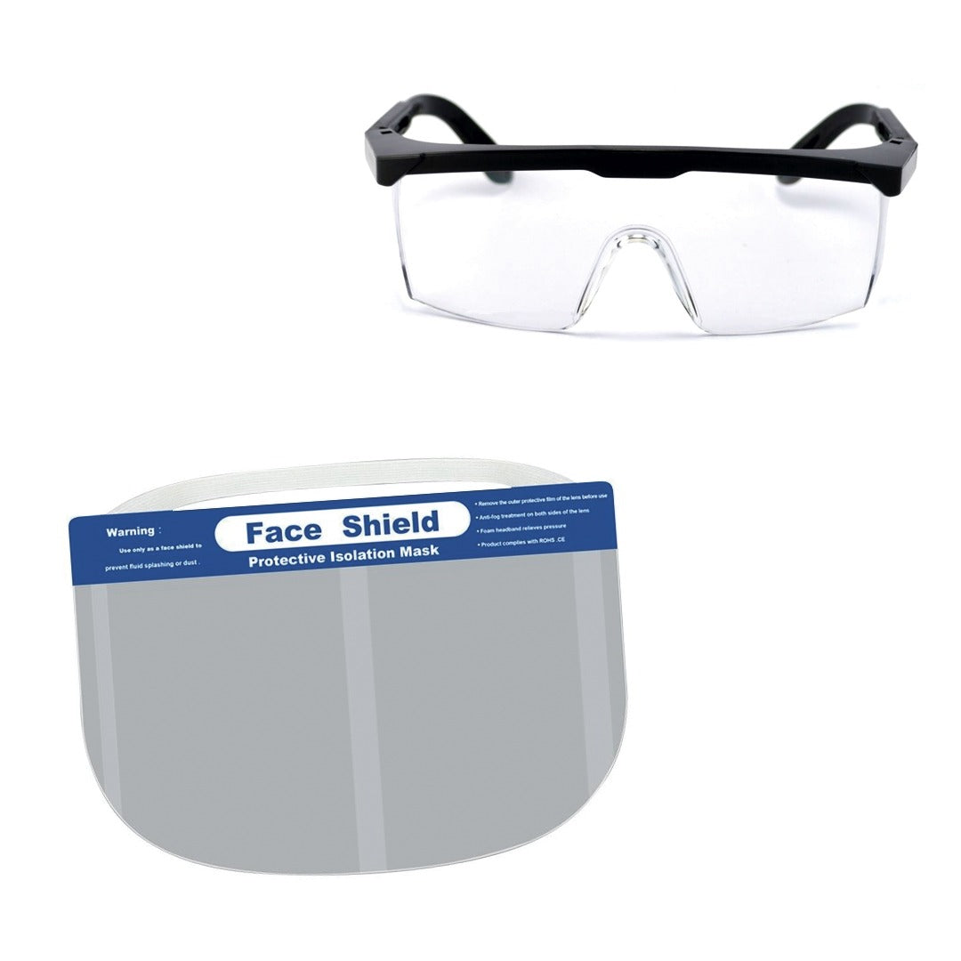 Pack Security (Lentes + Protector Facial)