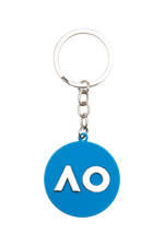 Keyring Logo Embossed - Blue