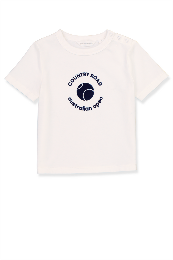 T-Shirt Baby AO Country Road White