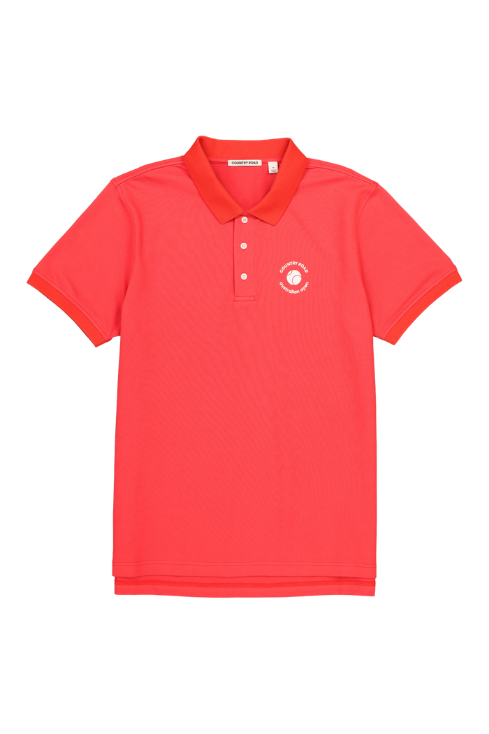 Men's Polo AO Country Road Red