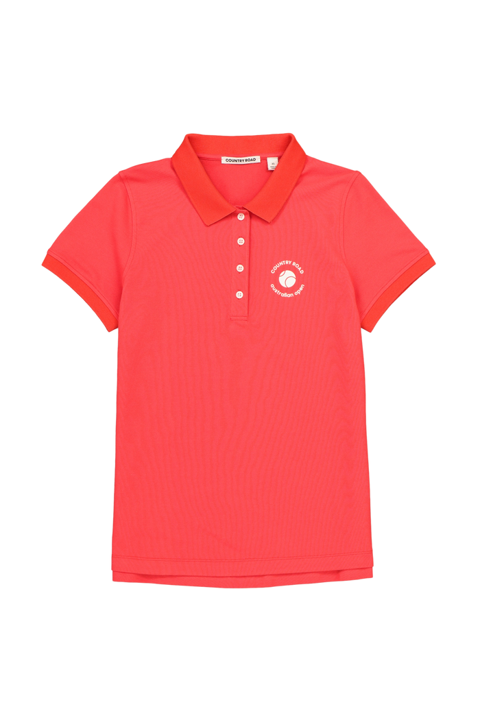 Women's Polo AO Country Road Red