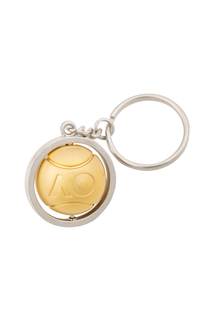 Keyring Spinning Gold Ball