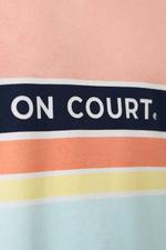 T-Shirt On Court Colorful