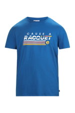 T-Shirt Cause A Racquet Underlines Blue
