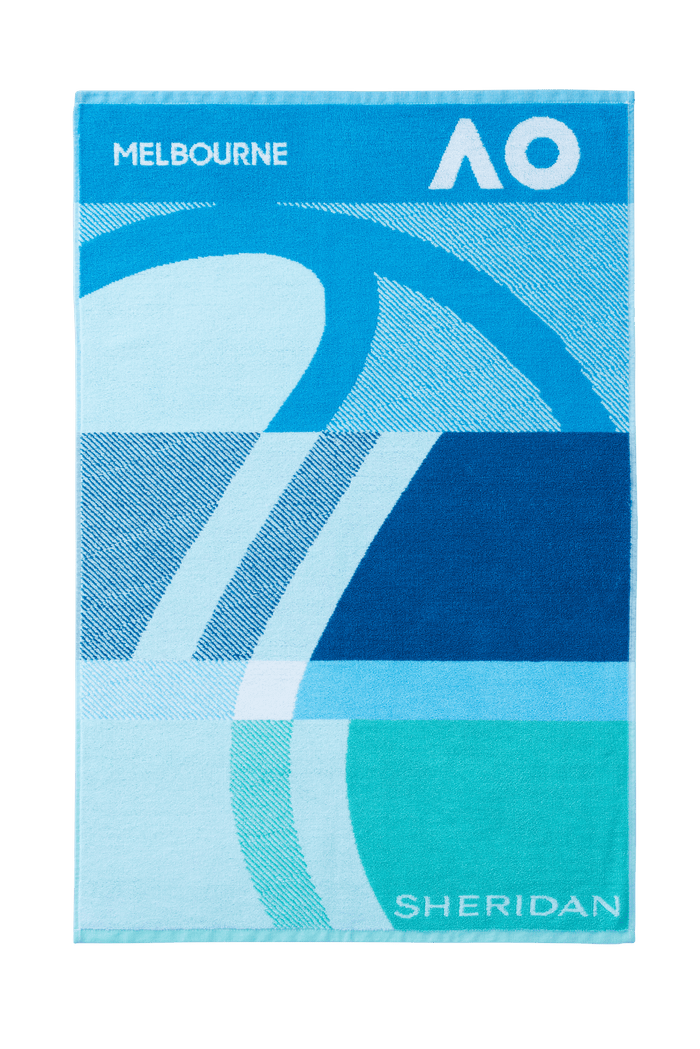 AO 2021 Gym Towel - Pacific Blue
