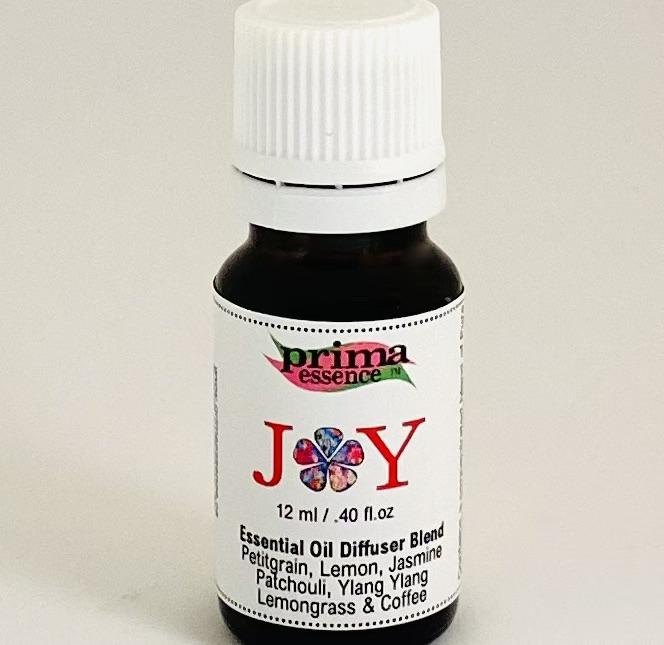 Joy Diffuser Blend by Prima Essence Petitgrain, Lemon, Jasmine, Patchouli, Ylang Ylang, Lemongrass and Coffee