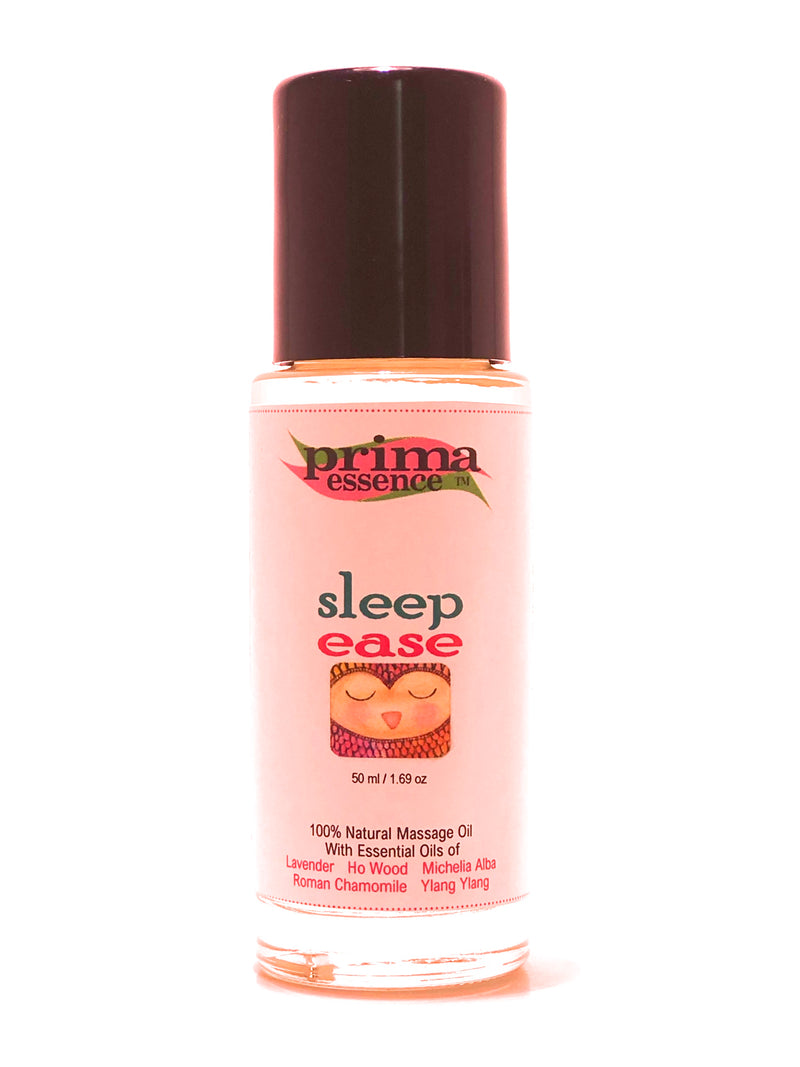 Sleep Ease Massage Oil with Lavender, Ho Wood, MIchelia alba, Ylang Ylang and Chamomile