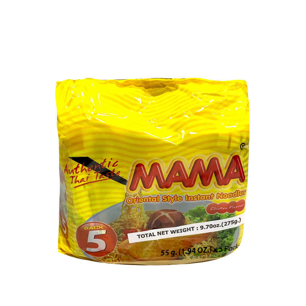 MAMA MAMA CHICKEN NOODLES 55G*5PACKS (5) 媽媽雞湯麵(5包裝)