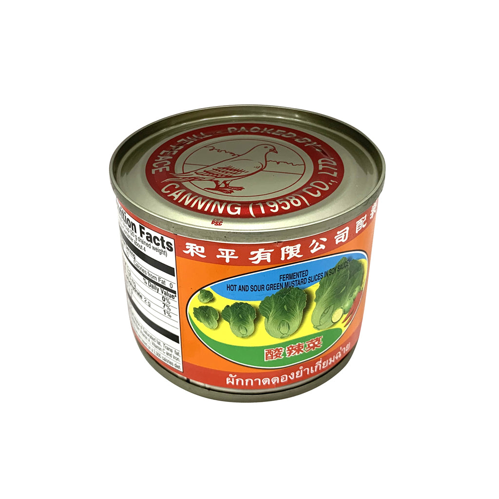 PIGEON-HOT & SOUR PILCKLED MUSTARD GREEN 白鸽酸辣菜5oz