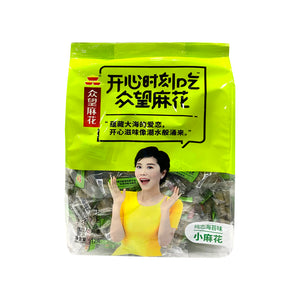 FRIED DOUGH TWIST SEAWEED 眾望一口脆小麻花海苔味 512G