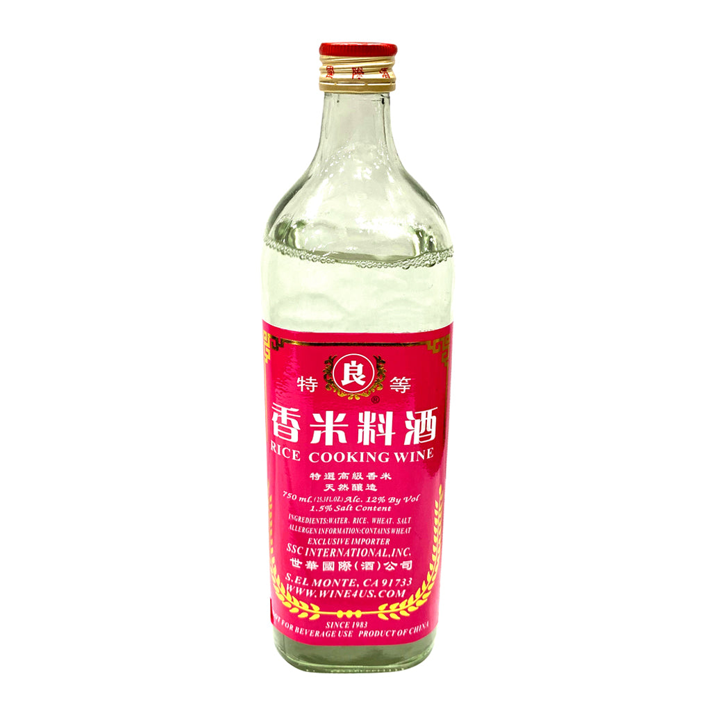 RICE COOKING WINE 良牌 香米料酒(白)