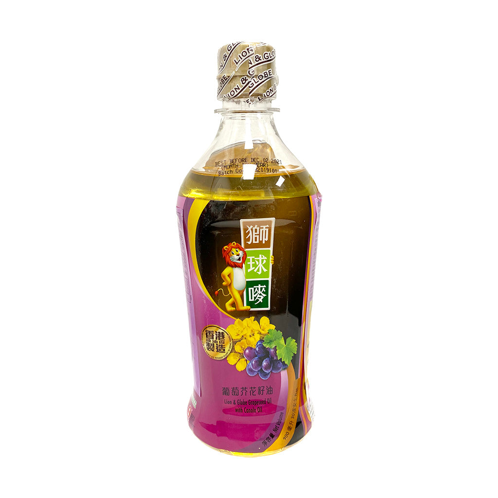 GRAPESEED OIL WITH CANOLA OIL獅球嘜葡萄芥花籽油900ml