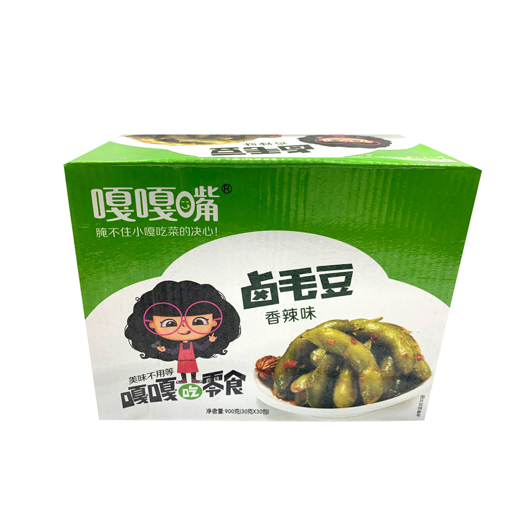 GGZ GREEN SOY BEAN SPICY FLAVOR 嘎嘎嘴滷毛豆香辣味