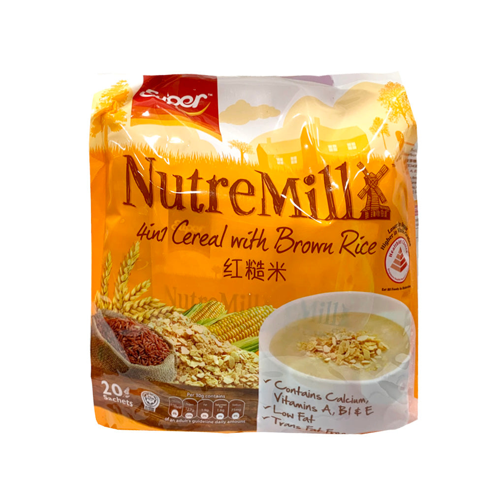 SUPER-4 IN 1 BROWN RICE CEREAL紅糙米麥片 20PK
