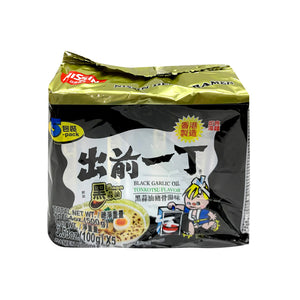 NISSIN-BLACK GARLIC OIL TONKOTSU  PORK NOODLE 出前一丁黑蒜油猪骨湯麵-5PK