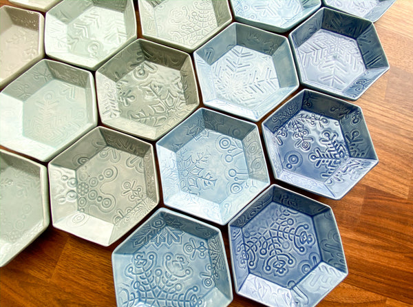 Snowflake Plate - Small Hexagon - L