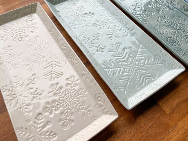 Snowflake (Small) Rectangular Platter - R