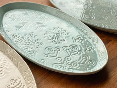 Snowflake Oval Platter - S