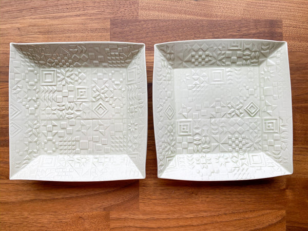 Set of Two Patchwork Serving Bowls - GG