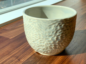 Carved Flower Flower Pot - I