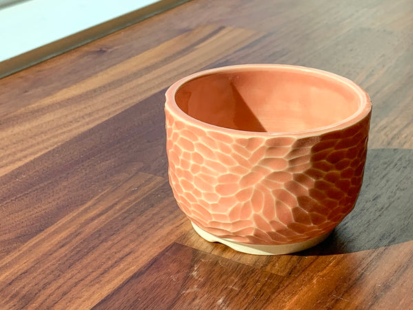 Carved Flower Flower Pot - C