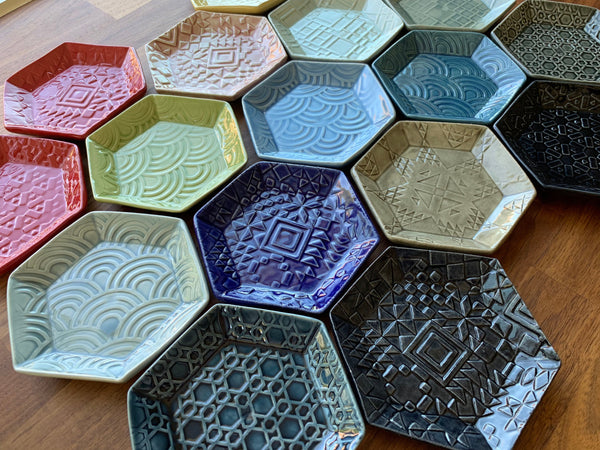 Patchwork Quilt Plate - Small Hexagon - C