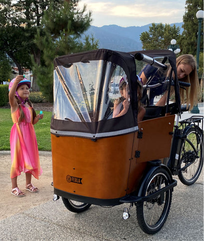 Weather-proof accessories for Cargo Family Bike