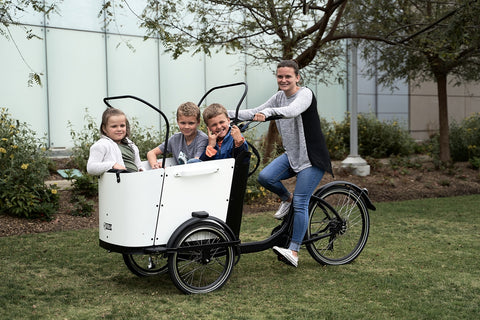 Cargo bike for a large family