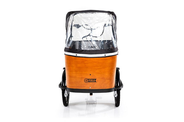 Fully Enclosed Sun & Rain Canopy - Ferla Family - Cargo Bikes