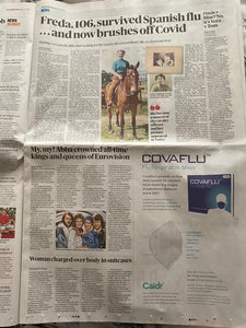Covaflu as advertised in The Sunday Times on 17th May 2020