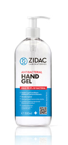 70% Alcohol Hand Sanitiser Gel 500ml Pump, Box of 4pcs