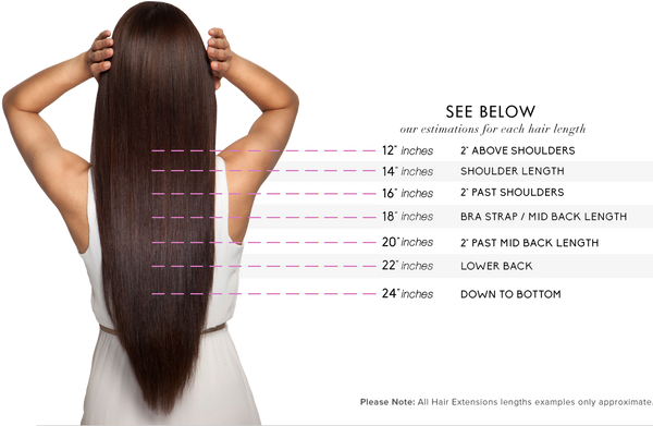 Clip in hair extensions nicolles boutique hair extensions length guide pmusecretfo Image collections