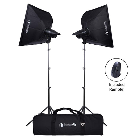 Studio Essentials 200Ws Two-Light Softbox Kit