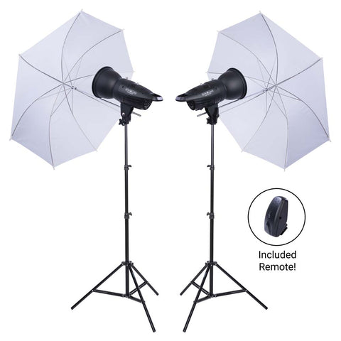 Studio Essentials 200Ws Two-Light Umbrella Kit