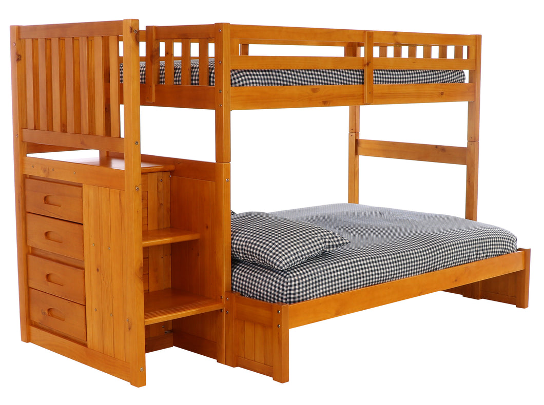Staircase Bunk Bed Full Extension Kit Honey Hardware Kit Discovery World Furniture