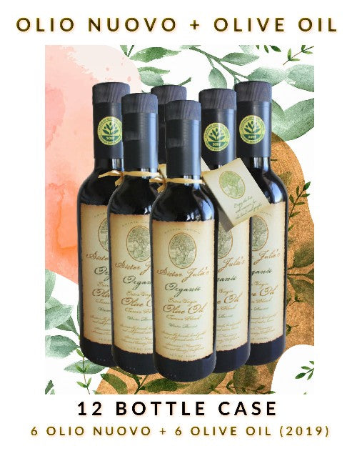 12 Bottle Variety Pack - 6 Olio Nuovo & 6 Sister Julie's Olive Oil