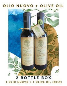 2 Bottle Variety Pack - 1 Olio Nuovo & 1 Sister Julie's Olive Oil