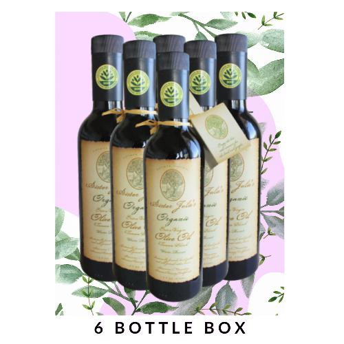 Sister Julie's Organic Extra Virgin Olive Oil (2019 Harvest) | 6 Bottle Box