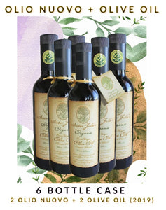 6 Bottle Variety Pack - 3 Olio Nuovo & 3 Sister Julie's Olive Oil