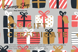 presents theme: $25 Gift Certificate
