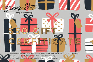 presents theme: $50 Gift Certificate