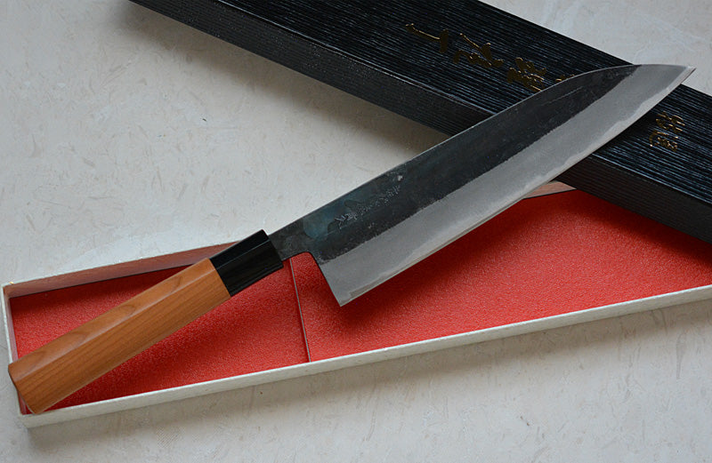 CK102 Japanese Gyuto knife Tosa-kajiya Black  - Aogami #2 carbon steel 210mm