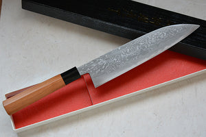 CK103 Japanese Gyuto knife Tosa-kajiya - Damascus with Aogami #2 carbon steel 210mm