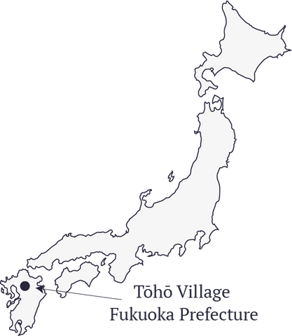 Toho village map, Fukuoka